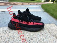 Wholesale 100 Original Kanye West Boost SPLY V2 Running Shoes Men s Run Shoes Stripe Women s Sneakers Have Socks Bag Receipt Boxes