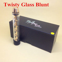 Cheap Twisty Glass Blunt New dry herb vaporizer 7Pipe Handpipe with high quality Twisty Glass Blunt Smoking Pipes in stock DHL free
