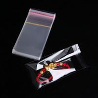 500 PC 8cm x 9cm Bolso transparente del uno mismo-pegamento del sello 8cmx9cm + 3cm Bolso pequeño del empaquetado para el bolso del regalo del caramelo