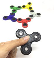 Wholesale Hand Spinner Tri Fidget Ceramic Ball Desk Focus Toy EDC For Kids Adults colors For decompression anxiety Finger Toys For Killing Time