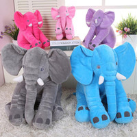 Wholesale cm Kawaii Baby Animal Elephant Style Doll Stuffed Plush Toys Elephant Plush Pillow Bed Cushion Stuffed Gifts For Kids