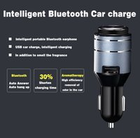 Wholesale The car cigarette lighter type Bluetooth hands free headset with Bluetooth hands free mobile phone charging vehicle USB