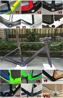 aerodynamic bicycle - 2017 Aerodynamics Carbon Road Bicycle frame set integrated brake stem handlebar