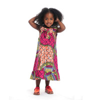 Wholesale 2016 Traditional African Clothing Bazin African Dresses for Women African Dashiki For Kids Children Clothing Dress Girl0001