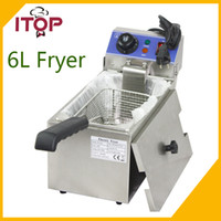 Wholesale 6L electric small home household healthy fish chicken potato french fries deep oil fat fryer machine V