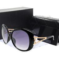 al por mayor señoras gafas de sol de marca-Novel Goggle Marcas al aire libre diseñador Gafas de sol gafas de sol dama mujeres negro sombras Moda Retro con original Zipper caso