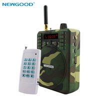 Wholesale 2017 bird Caller hunting Remote Control Hunting Decoy Speaker Record Remote Control M with Animal Voices TF card FM Radio F92A