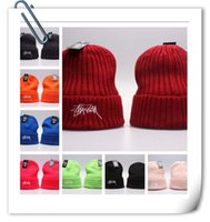 stussy - Stussy Beanies Popular Hats Hip Hop Beanies Brand Sports Beanie Knitted For Men Women drop shippping Adjustable Casual Beanies