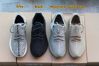 Cheap Drop Sale 2017 Kanye West Women And Men Shoes Black Grey Moonrock Adidas Yeezy Boost 350 Yeezys Size 36-45 In Store