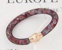 al por mayor pulseras de moda rojos-Moda popular Rhinestone embellecido en forma de red pulsera individual ColorfulYW16123009