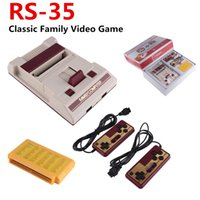 RS-35 CoolBady Cool Child Console de jeux vidéo FC Red White Classique Famille Game Machine Consoles de jeux TV Yellow Card Plug-in Card Games PXP3
