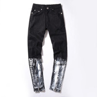 Wholesale High Quality Men s Pants European Gradual Change Color Zipper Self cultivation Bound Men Jeans