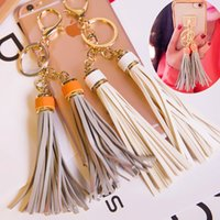 admiralty material - South Korean high end Keychain bags color tassel Admiralty car key pendant DIY mobile phone shell material
