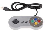 Precio de Joystick usb-Venta al por mayor de juegos retro para SNES USB atado con alambre controlador de joystick clásico GamePad para PC de Windows Seis botones digitales