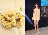animals dish - Ms printed chiffon hair band Dish hair hair band Fashion beach headdress flower color can choose