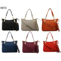 Wholesale Fashion Designer Lady Evening Bags Soft Leather Solid Zipper Hand Bags for Women with Cramp Ring