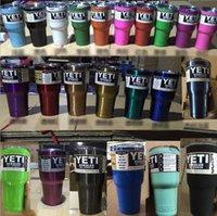 Wholesale Powder Coating Yeti Rambler Tumbler Cups oz Stainless Steel Mug Flag Rambler Baseball rose In Stock