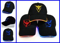 baseball cap with led light - Pikachu Caps VALOR INSTINC MYSTIC Team Hat with LED Flash Light L cm Adjustable Snapbacks Hats Adult Baseball Caps Fashion ball cap