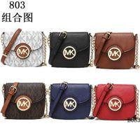 Wholesale Lowest price Top quality Women Handbags MICHEAL KALLY MK fashion women famous brand designer PU Litchi pattern bags MK803
