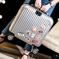 Wholesale Board box aircraft wheel pull rod box inch small suitcase business men and women mirror