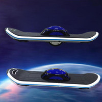 Wholesale One Wheel Unicycle Self Balancing Scooter Land Surfing Standing Electric Skateboard V mAh with LED Hoverboard fasts shipping