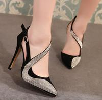 Wholesale Europe Nightclub High Heels Catwalk Fashion Rhinestone Single Shoes Women Diamond Rhinestone Pointed Toe Pumps Evening Shoes