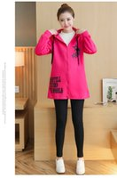 Wholesale Winter maternity dress down cotton cashmere cardigan in the long section of large size hooded pregnant women outerwears16156