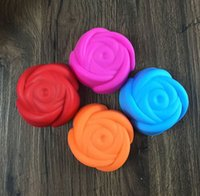 Wholesale 20PCS Silicone Cake Molds Rose Flower Shaped Cupcake Muffin Chocolate Pudding Grade Silicone Moulds Case Cake Tools Baking Bakeware