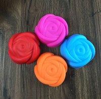 20PCS torta Stampi in silicone a forma di fiore della Rosa di Cupcake Muffin Chocolate Pudding Custodia Grado Stampi in silicone torta lavora cottura Bakeware