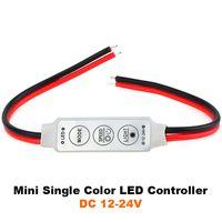 Wholesale DC V V Mini Dimmer LED Single Color Controller for LED Strip Light color RGB led strip light