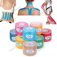 Wholesale 5cm x m Color Kinesiology Tape Sports Muscles Care Therapeutic Bandage Physio Strain Mixed Colour