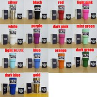 Wholesale DHL Free Colors Beer Mugs oz Yeti Cup Stainless Steel Yeti Rambler YETI Coolers Rambler Tumbler Double Walled Travel Mug