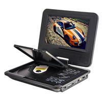 Venta al por mayor NUEVOS 7 pulgadas Mini portátil de pantalla multimedia de VCD de las pantallas de CD de DVD Car Travel TV portátil con AVI VOB MP3 MP4 JPEG