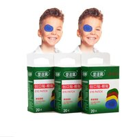 adhesive eye patches - 60PCs Boxes Colorful Breathable Eye Patch Band Aid Medical Sterile Eye Pad Adhesive Bandages First Aid Kit