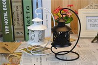 Wholesale European classical Morocco Vintage Wedding Candle Holders hollow iron handicrafts