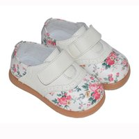 Spring / Autumn beautiful pink rose - girls shoes rose print genuine leather shoes rose children shoes kids flats beautiful chaussure de bebe sapatos zapato nina new comfort