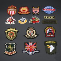 Wholesale 10pcs Iron On Patch For Clothing Jacket Military Biker Patches parches ropa Embroidered Jeans Overcoat Fabric Patchwork Army Badge Appliques