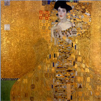 bauer paintings - Gustav Klimt Female Portrait of Adele Bloch Bauer I Hand painted Abstract Art Oil painting canvas Multi sizes Available Kl001