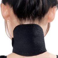 Wholesale 2016 Useful Healthy Black Magnetic Headache Neck Massager Guard Protector For Health Therapy Spontaneous Heating