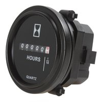 Wholesale Inch DC V Round Hour Meter Industrial Electronic Mechanical Timer for for Race Cars Fork Lifts Trucks Boats