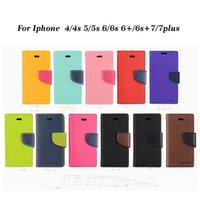 Wholesale Wallet PU Flip Leather Case Credit Card Back Cover For Iphone plus s Samsung S6 S6edge S7 Universal Cell Phone Case
