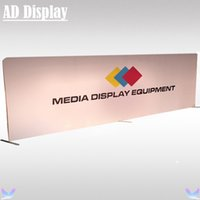 Wholesale 27ft ft Straight Stretch Fabric Advertising Media Backdrop Equipment With Banner Printing High Quality Tension Fabric Expo Display Wall
