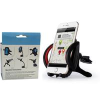 50PCS Soporte del teléfono del ventilador del aire del coche Gps Accesorios Soporte de la taza de la succión Tablero móvil móvil Soporte retráctil del montaje