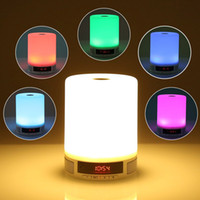 Wholesale 2016 New Smart Alarm Clock Lamp Speaker With LED Screen Hands Free For Mp3 Mobile Phone iPad Free DHL