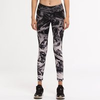 Wholesale HIGH QUALITY women Sports Pants fitness yoga clothes running jogging pants quickly absorb sweat Elastic ink print leggings