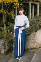 Wholesale Original new embroidered long sleeved daily improved two wear Hanfu female waist chest jacket skirt