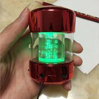 Wholesale Lighting mercifully speaker LC A16 crystal colorful flash mini card radio speaker USB speakers Portable audio mobile computer stereo