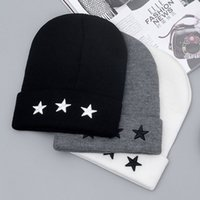 Wholesale Mens Sport Beanies Hat High Quality NY Pentacle Star Embroidery Warm Skull Beanie Hip Hop Knit Cap Ski Crochet Cuff Winter Hat For Men And W
