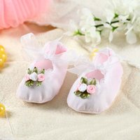 baby formal shoes - Fashion New baby Pink Lace Flower Girls princess Toddler Formal Shoes newborn cotton First Walker Shoes Walking Infant Wear Lovekiss C29728