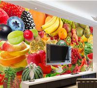 banana photos - custom d photo wallpaper Fruit Watermelon Banana Tomato Pear wall mural photo wallpaper Home Decoration